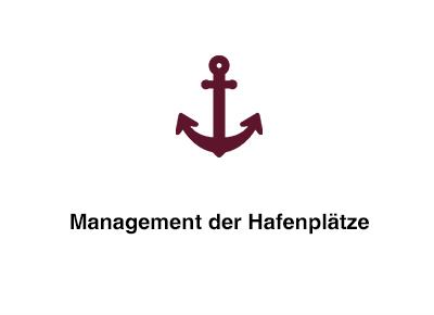 Management der Hafenplätze